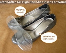 Comfort Soften Gel High Heel Shoe Insert For Women (Lady) (One Size)