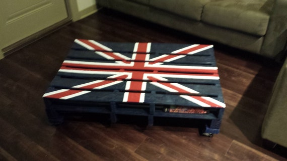 Items Similar To Pallet Coffee Table Union Jack On Etsy
