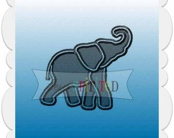 Mini Elephant Filled Embroidery Design