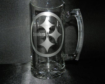 Pittsburgh Steelers, NFL 27 ounce Etched Mug