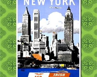 New York Travel Poster Wall Decor (7 print sizes available)
