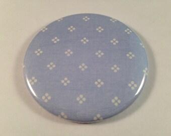 Light Blue with White Dot Pocket Mirrors