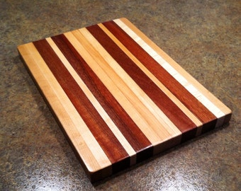 Oak and Mahogany Cutting Board