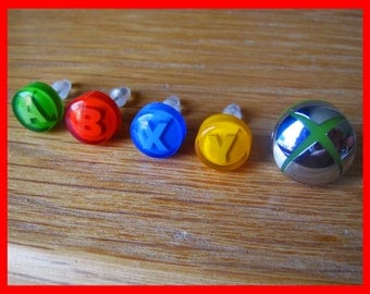 Xbox Button Stud Earrings (Pair)