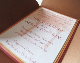 Brooks Manor - (Beautiful wedding invitation with warm autumn colors)