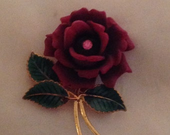 Rose Brooch 70s made in USA
