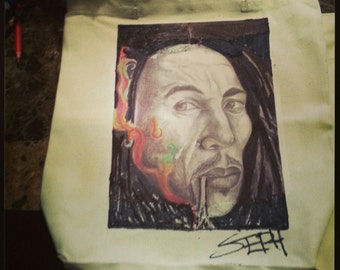 Bob Marley canvas totebag