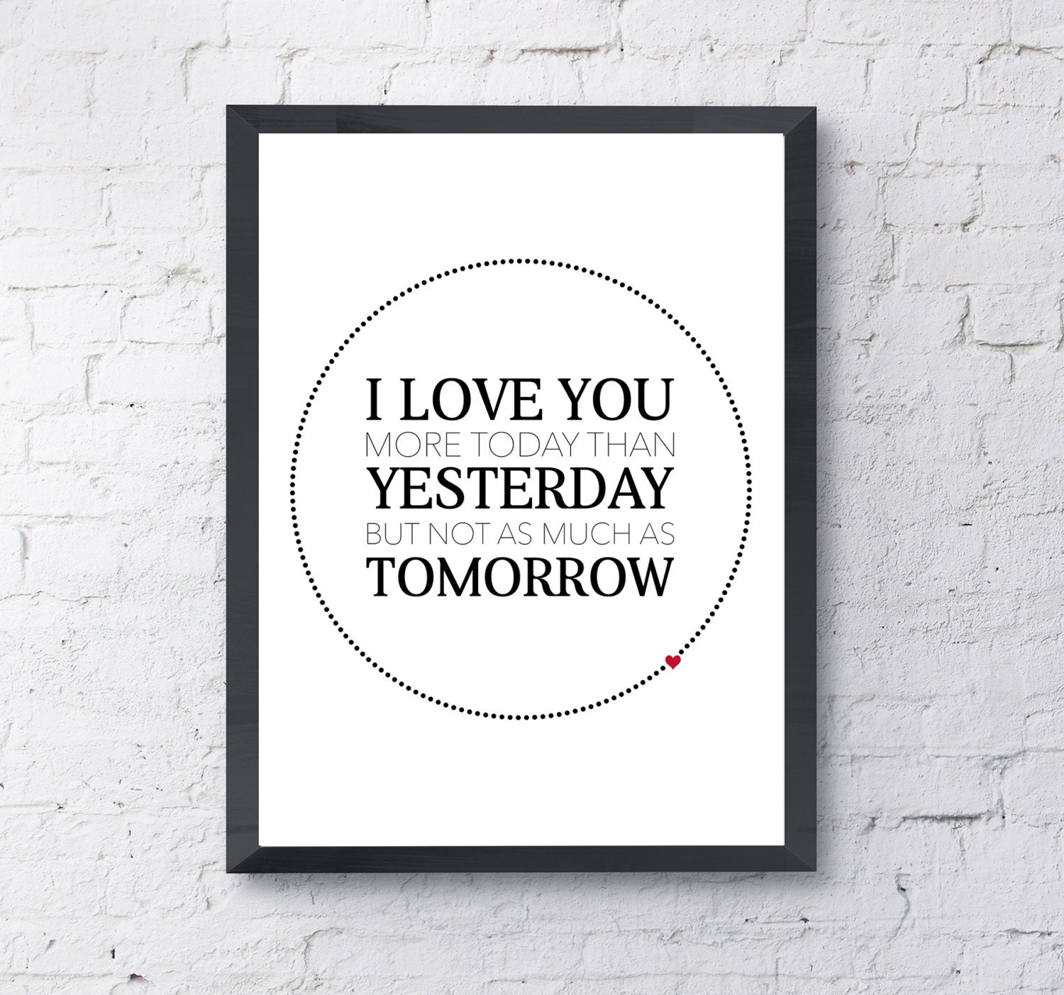 Wall Art Love You More : Valentines day wall art love print i you more