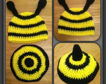 Bumblebee Hat and Tushy Cover Photo Prop