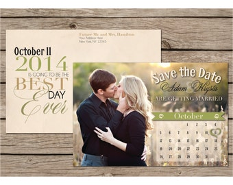 Wedding Save the Date Postcard