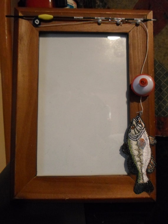 4 x 6 vertical wooden fishing frame for Fishing picture frame