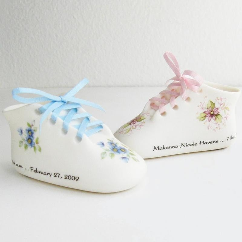 Personalized Porcelain Classic Baby Shoe by TreasuredBabySteps
