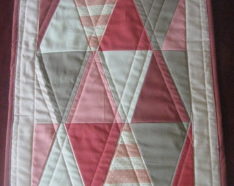 Pink triagle Doll Quilt