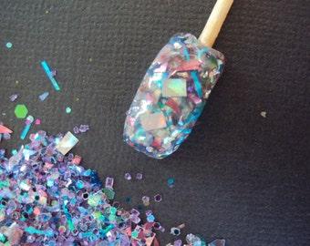 Nail Art Acrylic Gel Glitter Mix   LASER PARADE