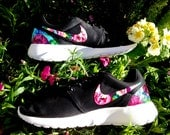 Nike Roshe Runs with Floral on swooshes and heels