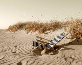 Beach Sand Dunes Photography Old Beach Chair Dry Coconut Light Brown