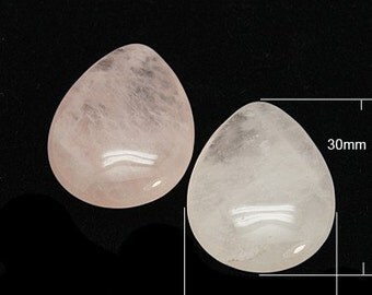 Rose Quartz Teardrop / Pear Cabochons 20mm x 30mm