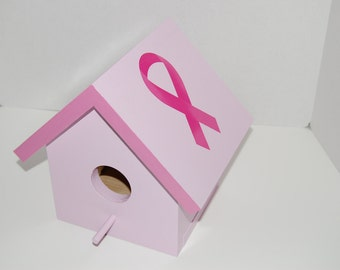 Breast Cancer Awareness birdhouse