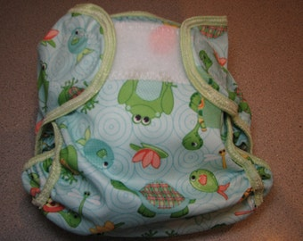 pond animals cloth diaper cover, waterproof PUL, small