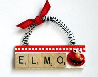 Elmo Sesame Street Scrabble Tile Ornament