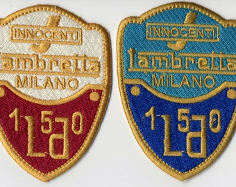 Vintage Scooter Lambretta LD 150 Patch Badge 2 Colors to Choose From!