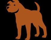 Brown Cut Vinyl Pitbull Decal