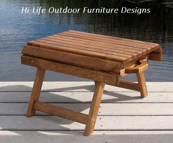 The Nugget Handmade Folding Wood Foot By Outdoorwoodfurniture