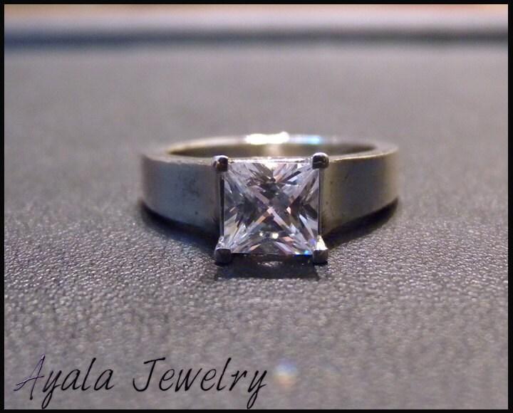 1ct Princess Cut Diamond Ring,Wedding Rings, Engagment Ring,Israel,Solitaire Ring,Eternity Ring,14K Gold Ring,Handmade Ring,Ayala Jewelry