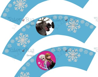 Frozen Cupcake Wrappers Lt Blue (DIgital File Only)