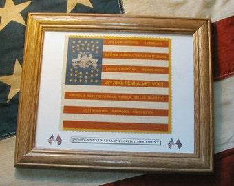 34 Star Flag, American Flag, Civil War Flag.....28th Pennsylvania