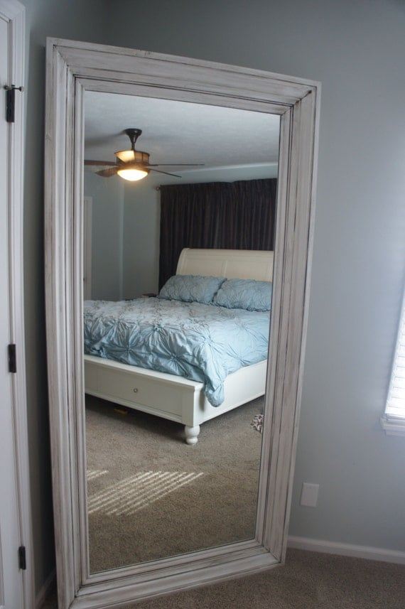Oversized Floor Mirror Leaning Mirror Dressing By Chalkyboards