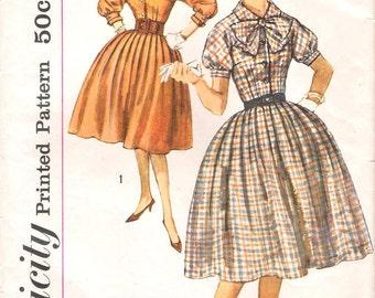 1960s Simplicity 3151 Shirtwaist Dress Pattern 16/36