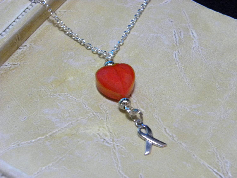 leukemia awareness necklace by inethanscorner on etsy