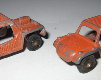 Two Dune Buggy Tootsie Cars from the 60's