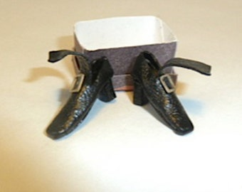 witches shoes.Very detailed, made of leather  dollhouse miniature 1/12 scale