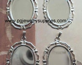 25x18 silver cameo pendant settings open border 4 pc BS2518C  End of Stock no longer will be active