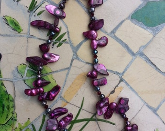 Dyed Fresh Water Pearl Necklace!