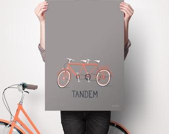 POSTER ART * Illustration of a tandem by SEVEUSMZ.