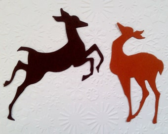 12 large prancing Tim Holtz Reindeer flight die cuts for christmas cards cardmaking scrapbooking paper craft project