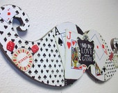 RESERVED FOR Cynthia Restuccia-Jackpot- Handmade mixed media collage custom  moustache art
