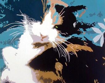 Cat - Pop art painting