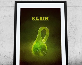 Klein Bottle, Science Poster, Printable Poster, Instant Download, wall decor, illustration,