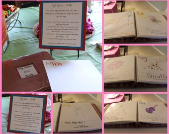 Baby Shower First ABC or Numbers Guest Book
