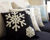 Pillow, Decorative Pillow, Snowflakes Pillow Cover, Throw Pillow, Toss Pillow, Sofa Pillow ~ various colour