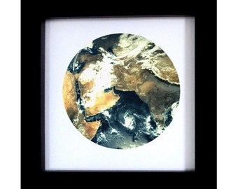 Fine art Earth print.  Cosmos art home decor wall art. Space photography. Globe Art.