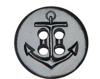 BN2850 - Buttons 50L - Navy Pea Coat 1 Dz - Black