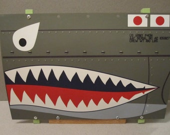 Aircraft Nose Art panel P-40 Flying Tigers WWII