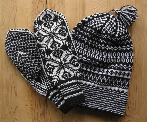 Traditional Swedish knit hat. Pattern is from by MarysScandKnits