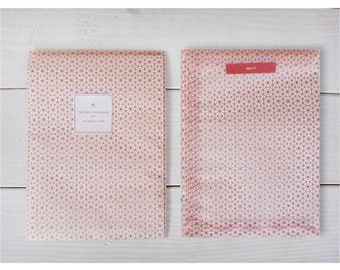Envelpoe Paper Gift Bag - Geometry-red-semi trasparent-gift wrapping