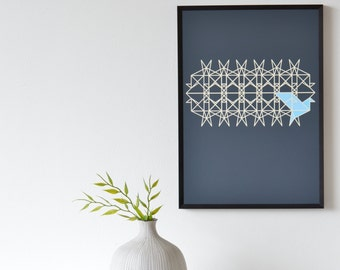 Origami Birds Geometric Art Print